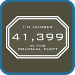 I'm number 41,399 in the Colonial Fleet